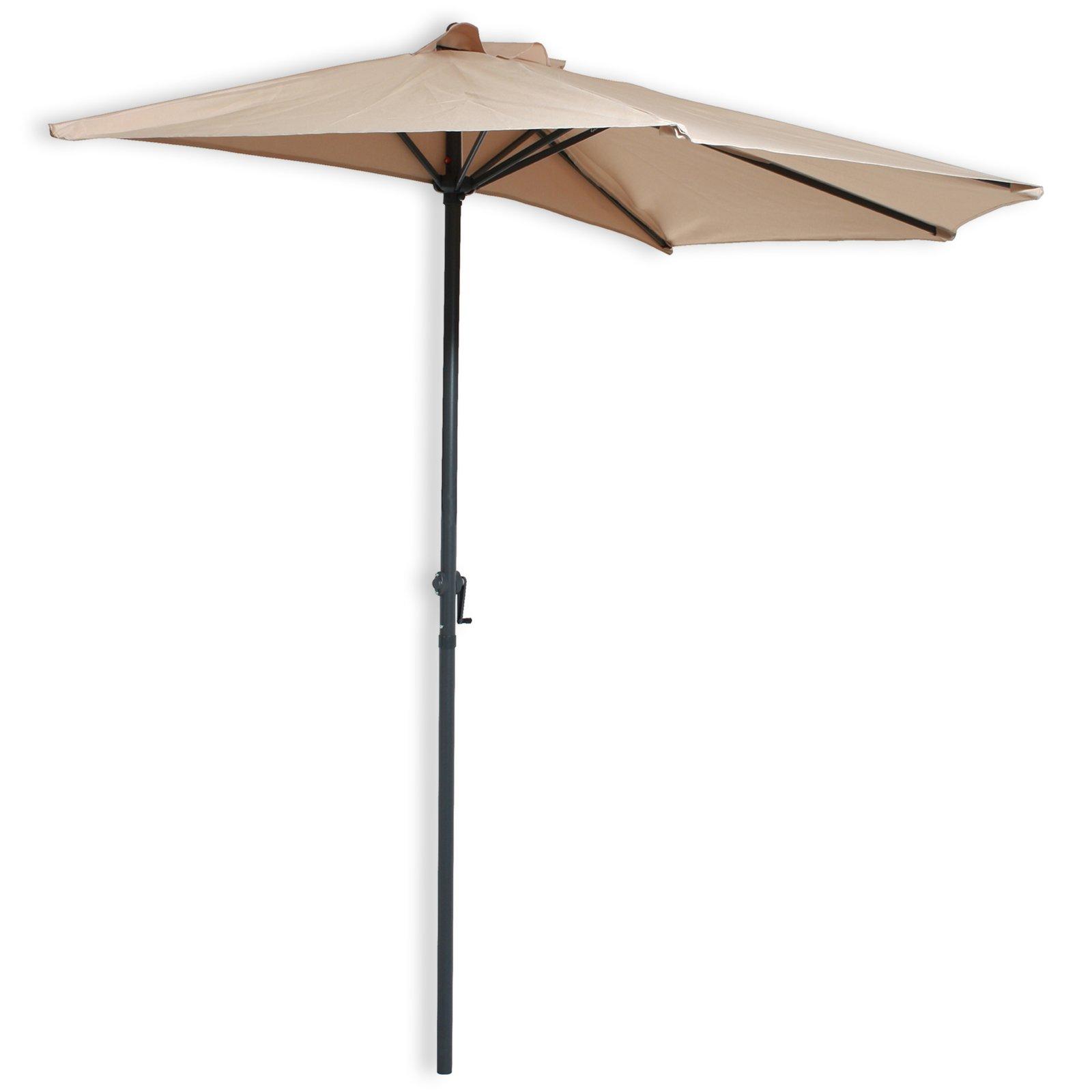 sonnenschirm beige halbrund 270 cm sonnenschirme schirmst nder gartenm bel balkon. Black Bedroom Furniture Sets. Home Design Ideas