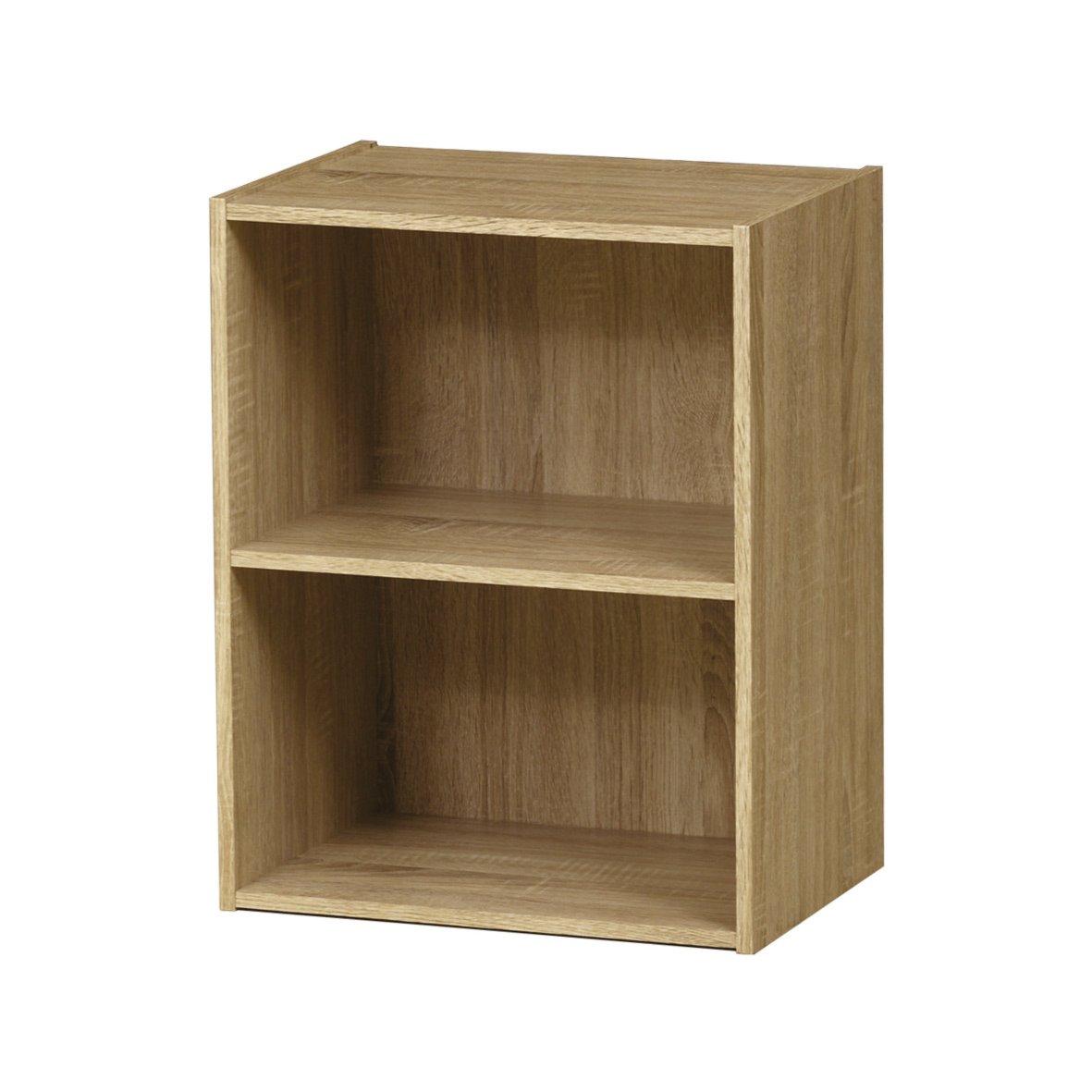 regal polykub eiche sonoma 2 f cher 54 cm standregale regale m bel roller m belhaus. Black Bedroom Furniture Sets. Home Design Ideas
