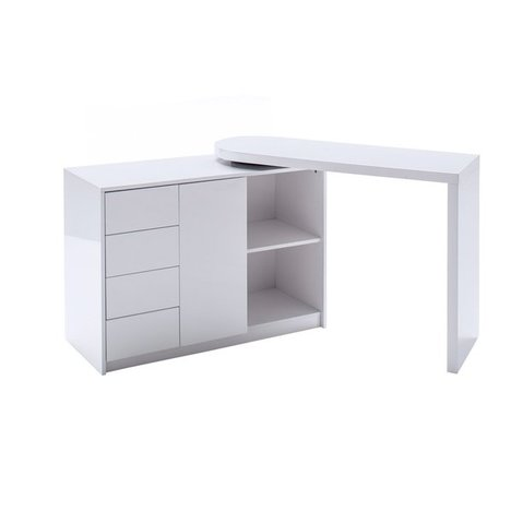 schreibtisch matt wei hochglanz schwenkbar eckschreibtische schreibtische m bel. Black Bedroom Furniture Sets. Home Design Ideas