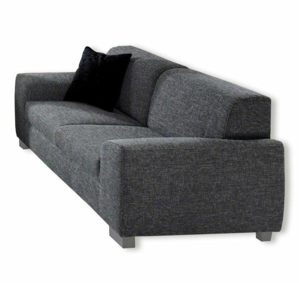 3 sitzer sofa dunkelgrau mit federkernangebot bei roller. Black Bedroom Furniture Sets. Home Design Ideas