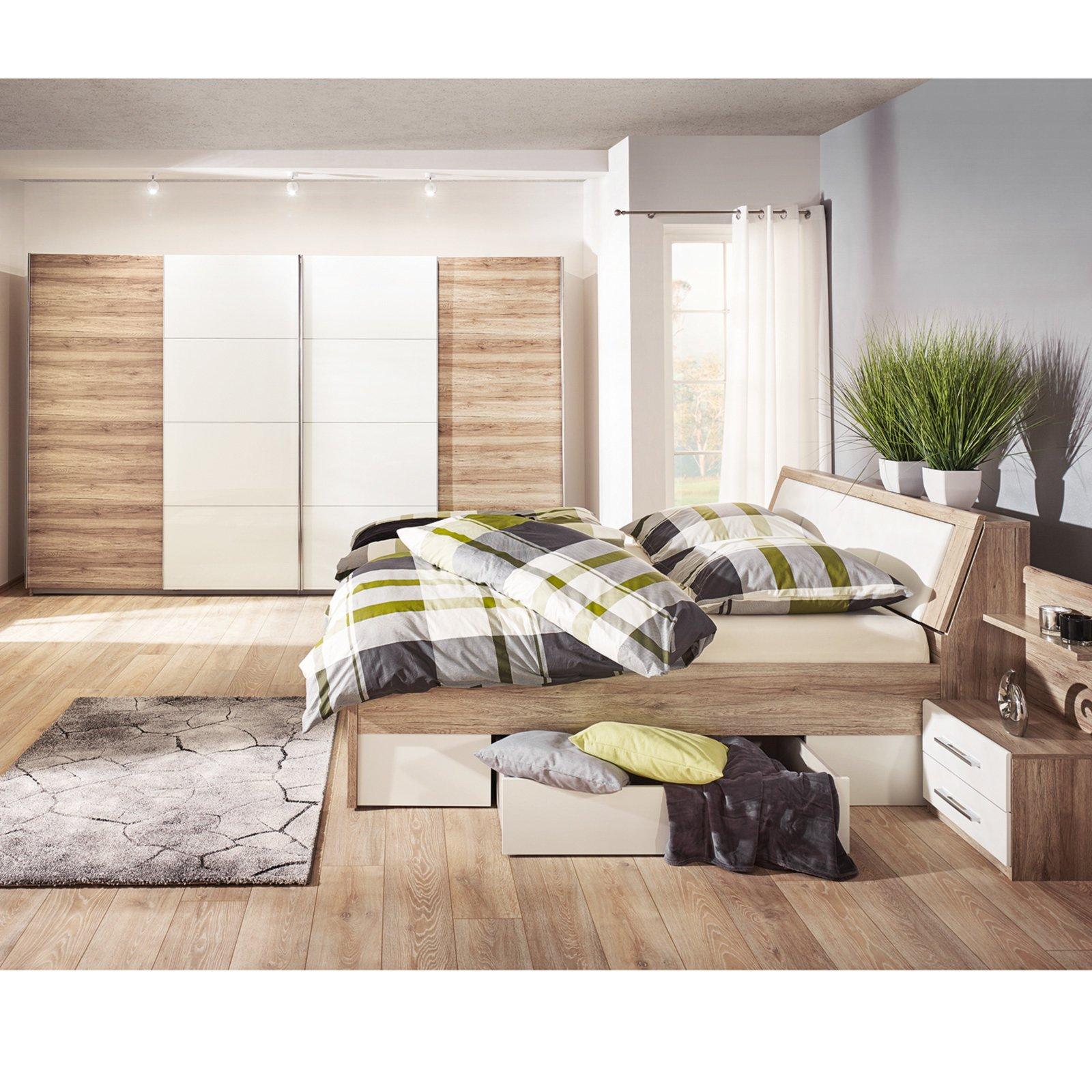 6-teiliges Schlafzimmer-Set KÖLN - San Remo Eiche
