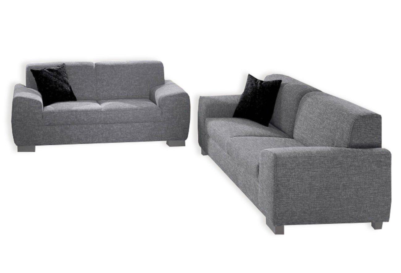 2 teilige polstergarnitur silber sofagarnituren sets. Black Bedroom Furniture Sets. Home Design Ideas