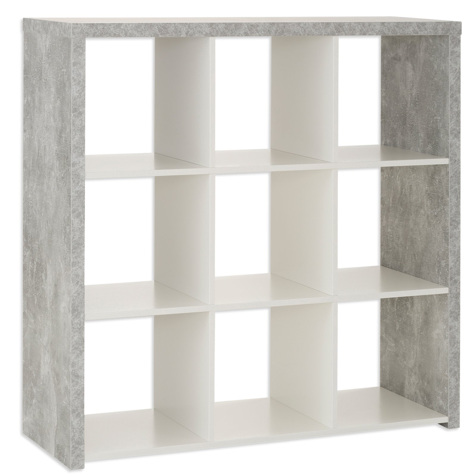 regal marta - beton-weiß - 3x3 fächer | regalserie marta | regale