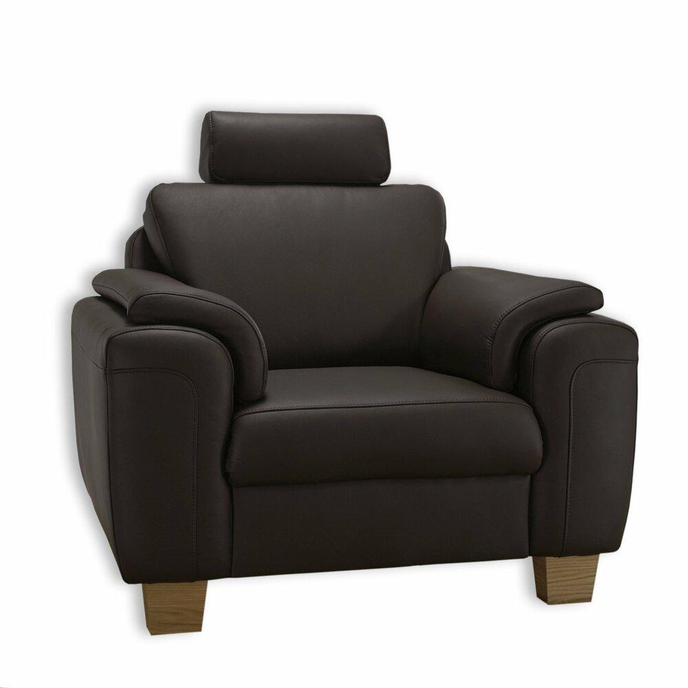 ledersessel dunkelbraun holzf e ledersessel sessel hocker m bel roller m belhaus. Black Bedroom Furniture Sets. Home Design Ideas