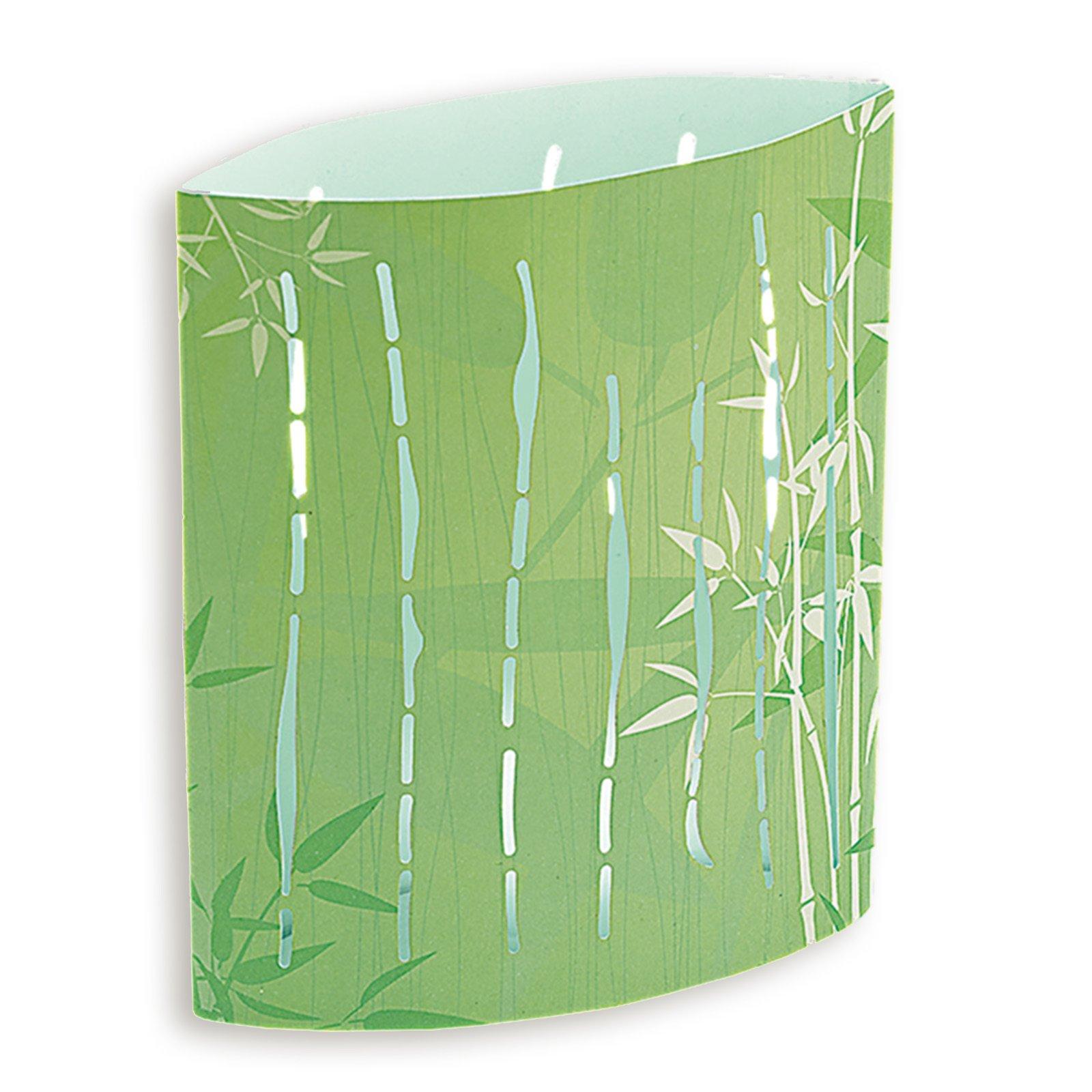 LED-Dekoleuchte BAMBUS - grün - Farbwechsler