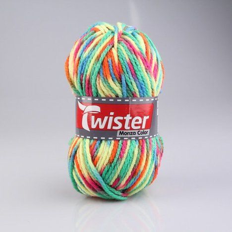 Wolle TWISTER MONZA COLOR - neon-bunt - 200g