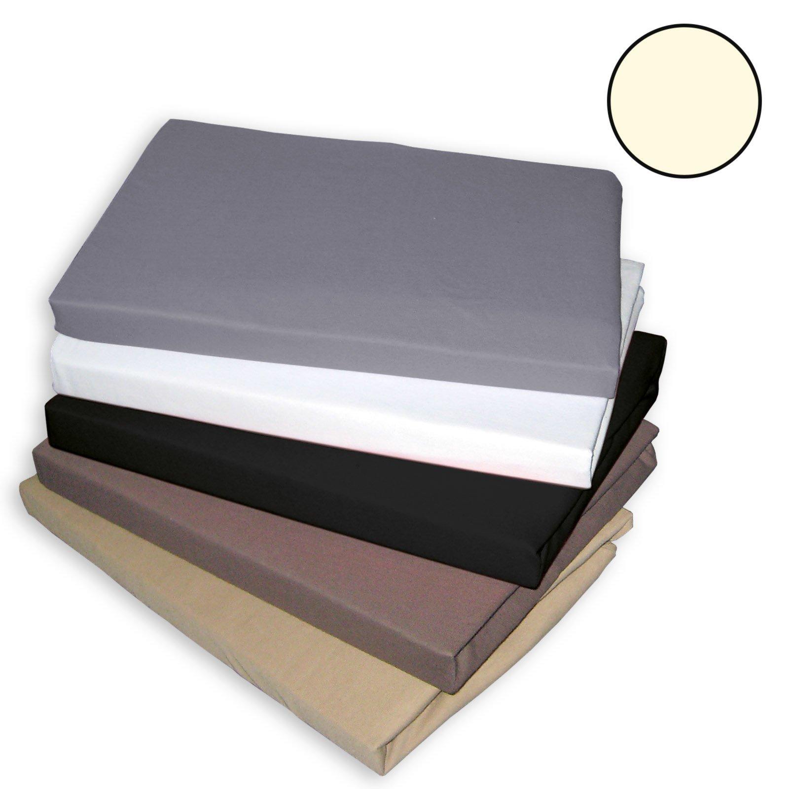 topper spannbettlaken traumhaft gut ecru 100x200 cm. Black Bedroom Furniture Sets. Home Design Ideas