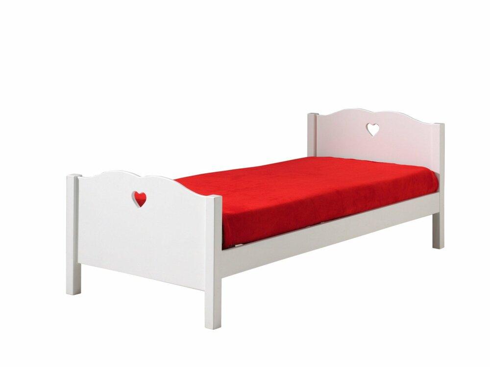 einzelbett amori wei 90x200 cm bettgestelle betten m bel roller m belhaus. Black Bedroom Furniture Sets. Home Design Ideas