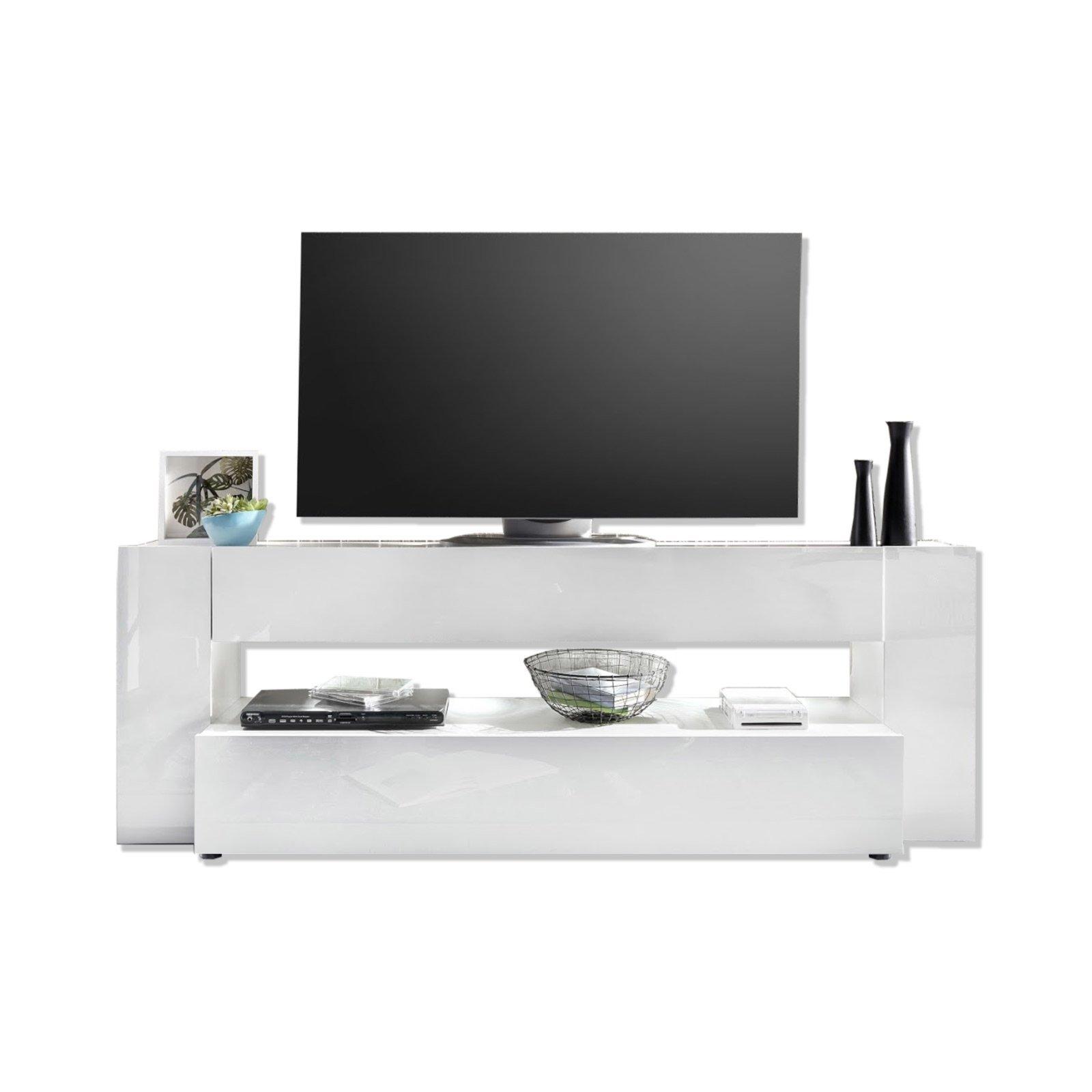 lowboard onyx wei hochglanz 185 cm breit tv lowboards b nke tv hifi m bel m bel. Black Bedroom Furniture Sets. Home Design Ideas