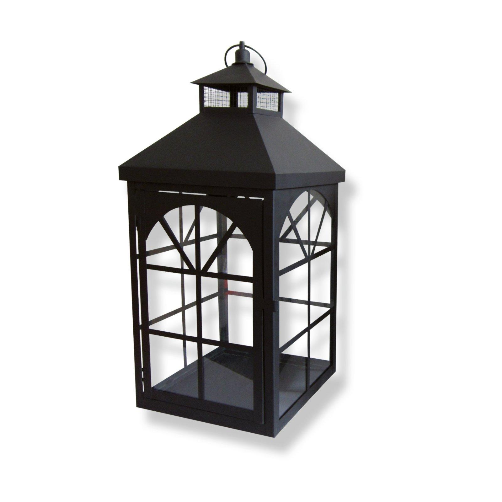 laterne schwarz matt 46 5 cm weihnachtsdekoration weihnachtsbasar roller m belhaus. Black Bedroom Furniture Sets. Home Design Ideas