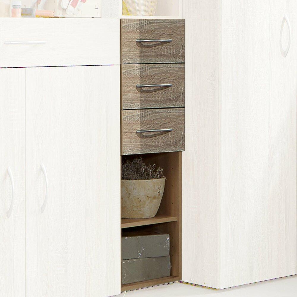 regal multiraumkonzept eiche s gerau 40x126x40 cm schranksystem multiraumkonzept. Black Bedroom Furniture Sets. Home Design Ideas