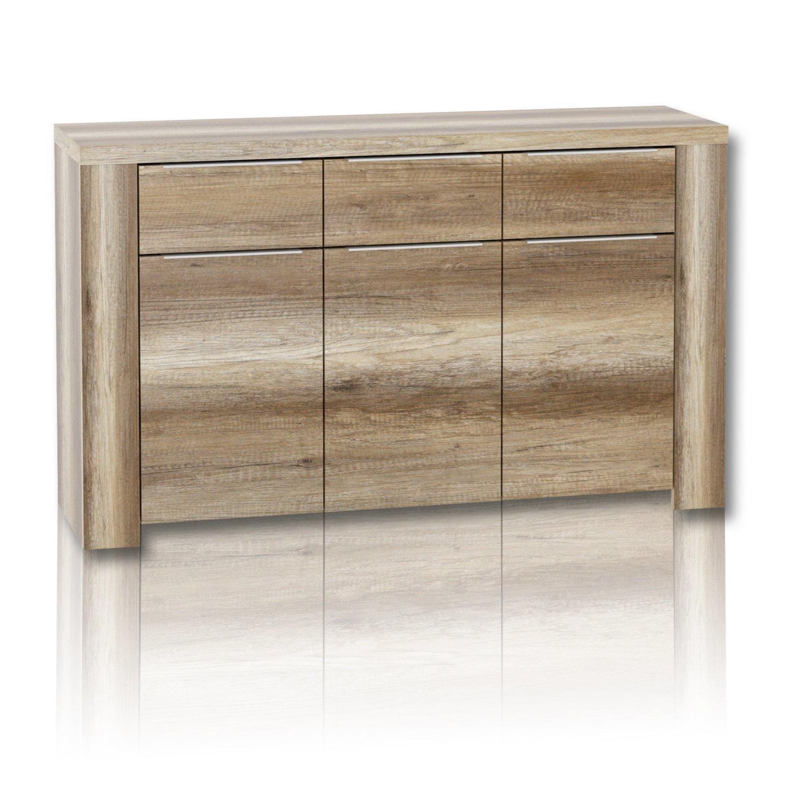 kommode calpe eiche antik 144 cm breite kommoden sideboards m bel roller m belhaus. Black Bedroom Furniture Sets. Home Design Ideas