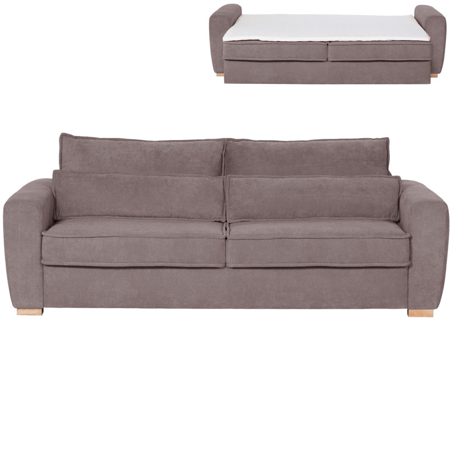 schlafsofa braun mit topper dauerschl fer. Black Bedroom Furniture Sets. Home Design Ideas