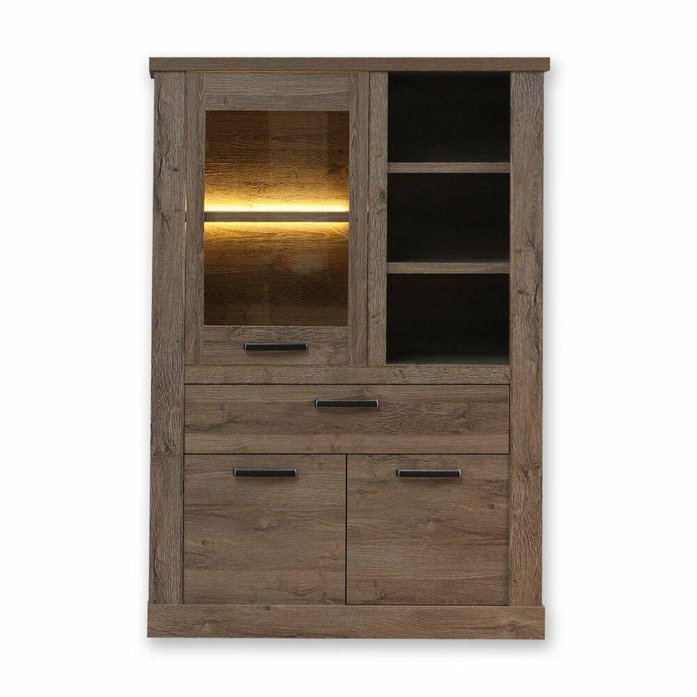 highboard corona eiche tabak 110 cm breit kommoden. Black Bedroom Furniture Sets. Home Design Ideas