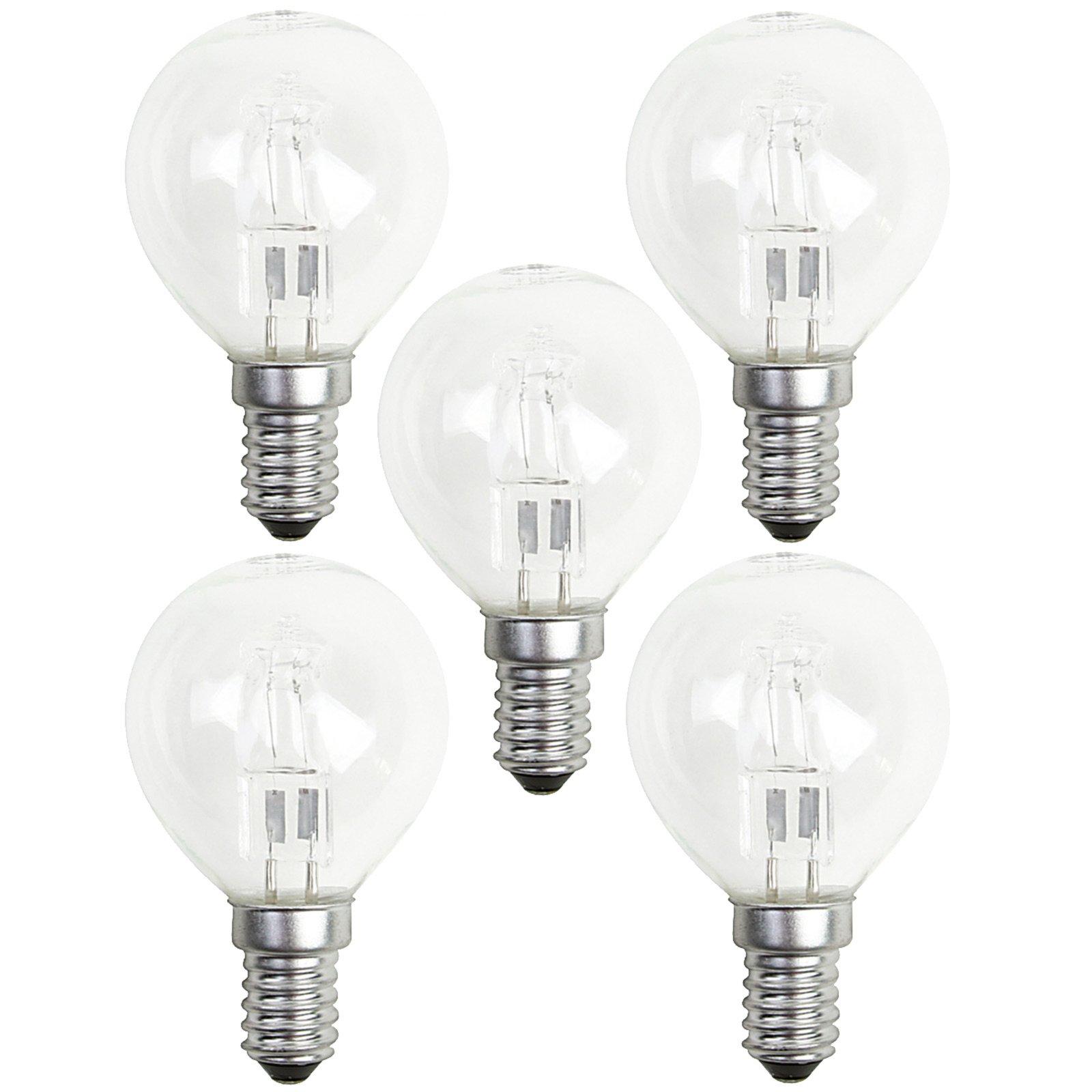 5er Pack Halogen-Leuchtmittel LIGHTME - Tropfen - E14 - 42 Watt