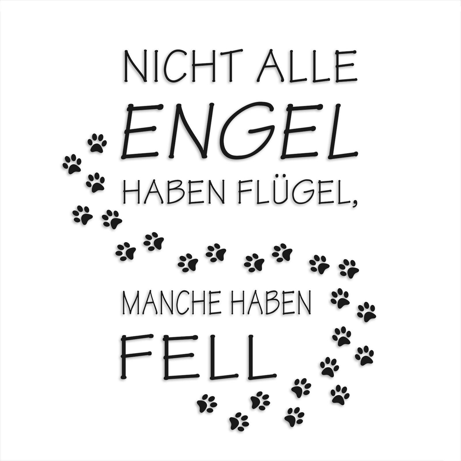 Wandtattoo Spruch Engel Mit Fell Selbstklebend Online Bei Roller Kaufen