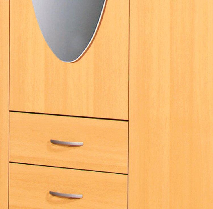 Kleiderschrank TWIN - Buche - 127 cm breit | Drehtürenschränke ...