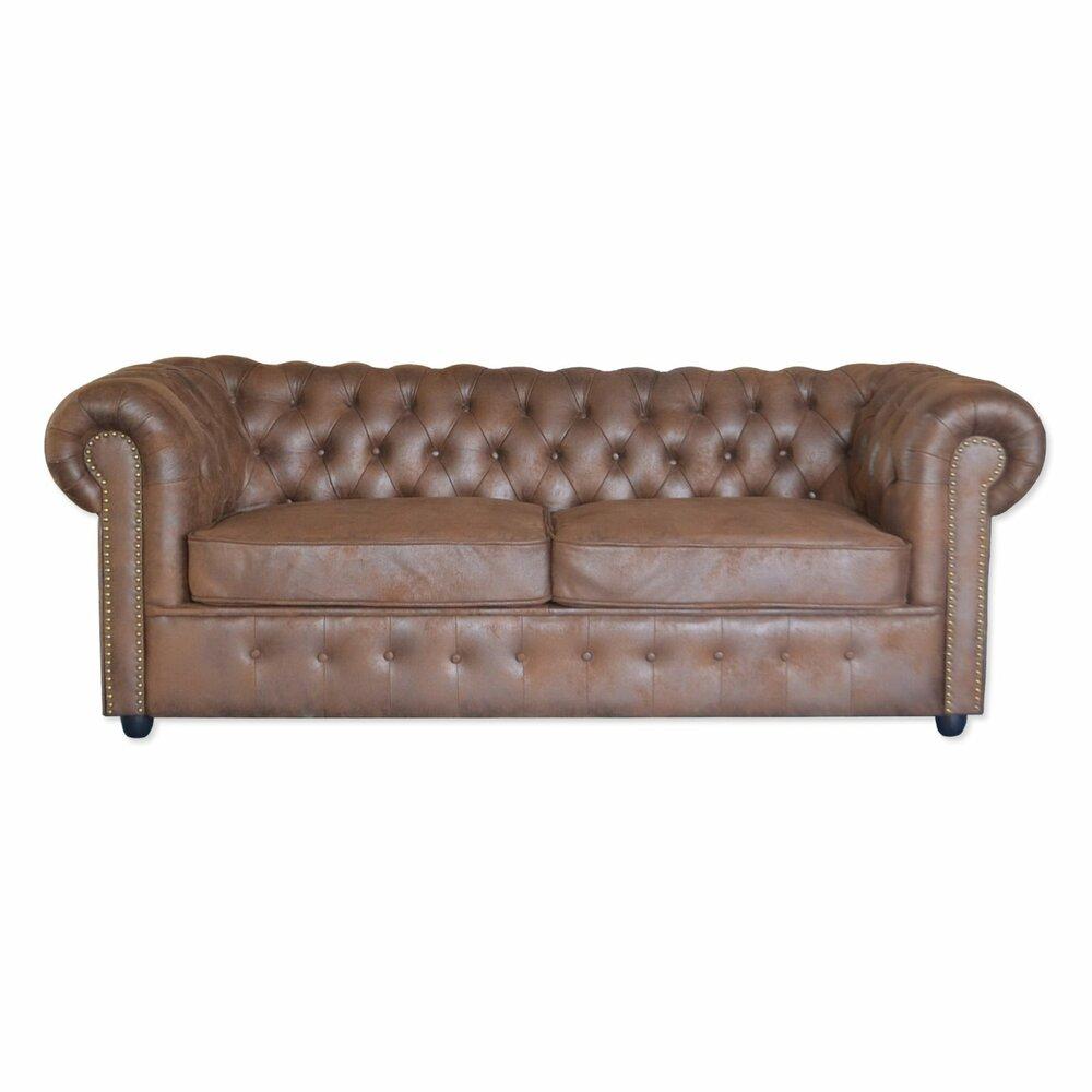 2 5 sitzer big sofa braun vintage microfaser 211 cm big sofas sofas couches. Black Bedroom Furniture Sets. Home Design Ideas
