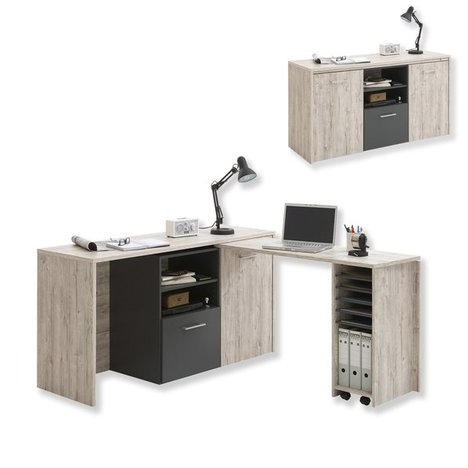 schreibtisch l sung liam sandeiche drehbarangebot bei roller kw in deutschland. Black Bedroom Furniture Sets. Home Design Ideas