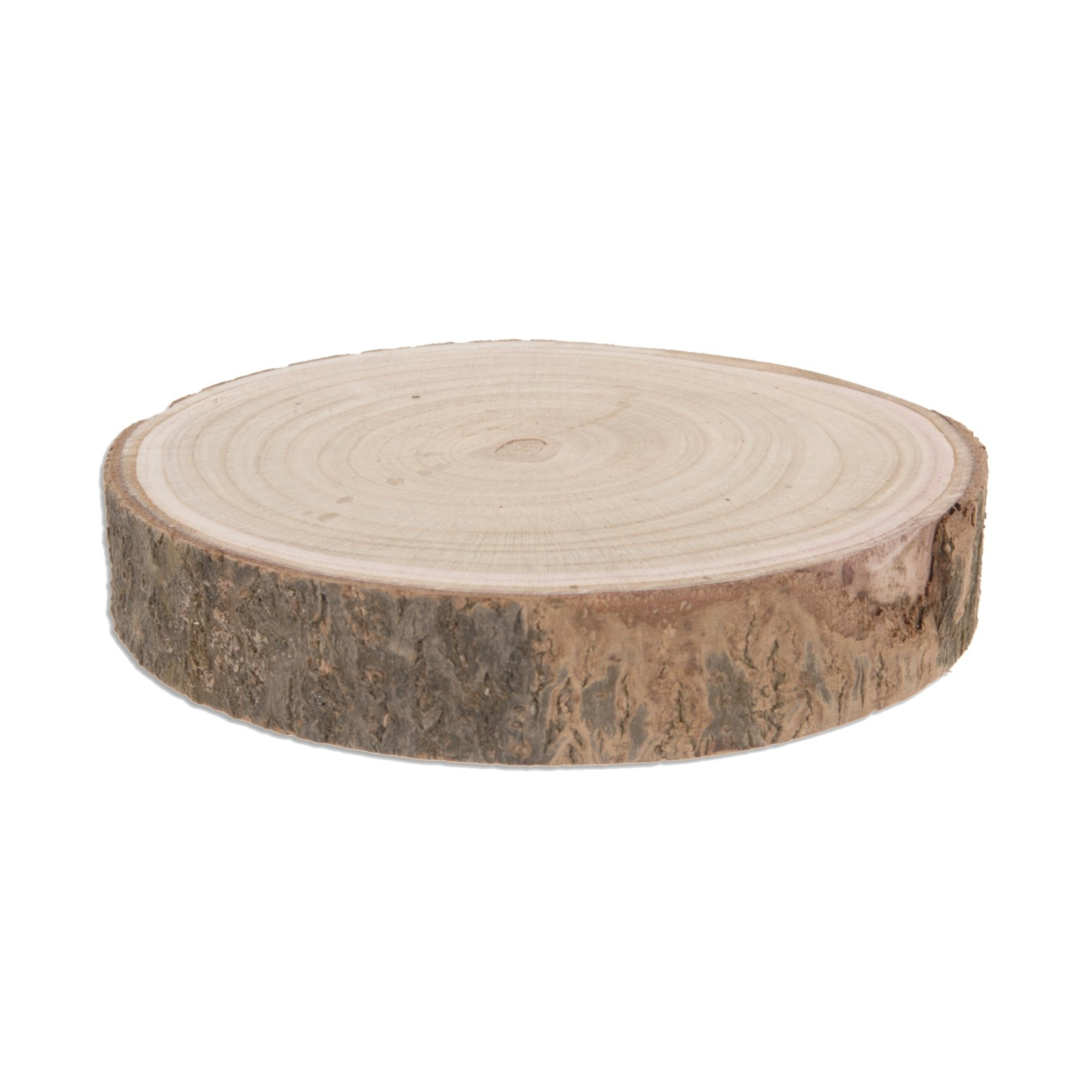 Deko-Baumstammscheibe - mit Rinde - 23 cm