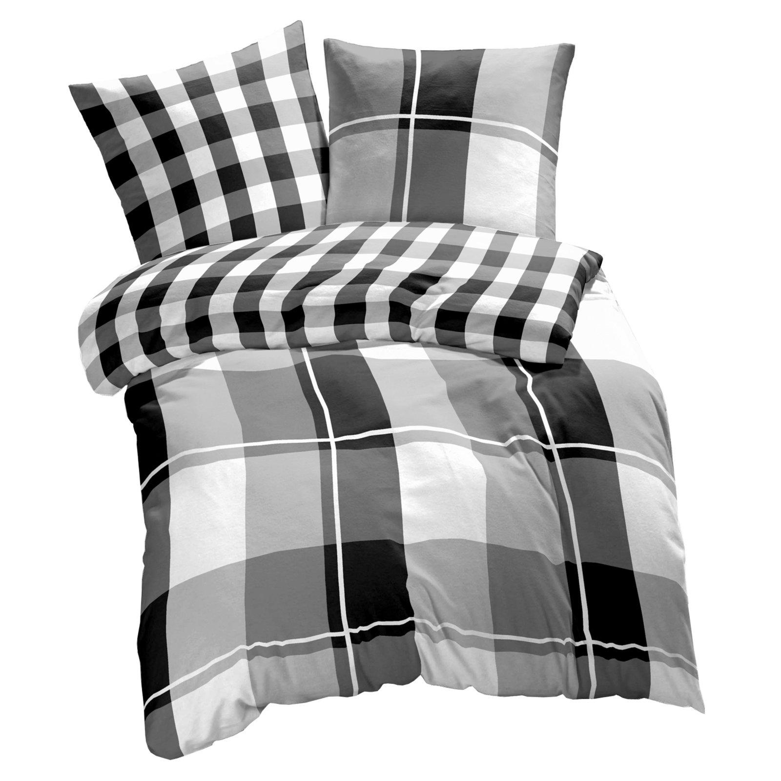 renforc bettw sche thomas check grau 135x200 cm bettw sche bettw sche bettlaken. Black Bedroom Furniture Sets. Home Design Ideas
