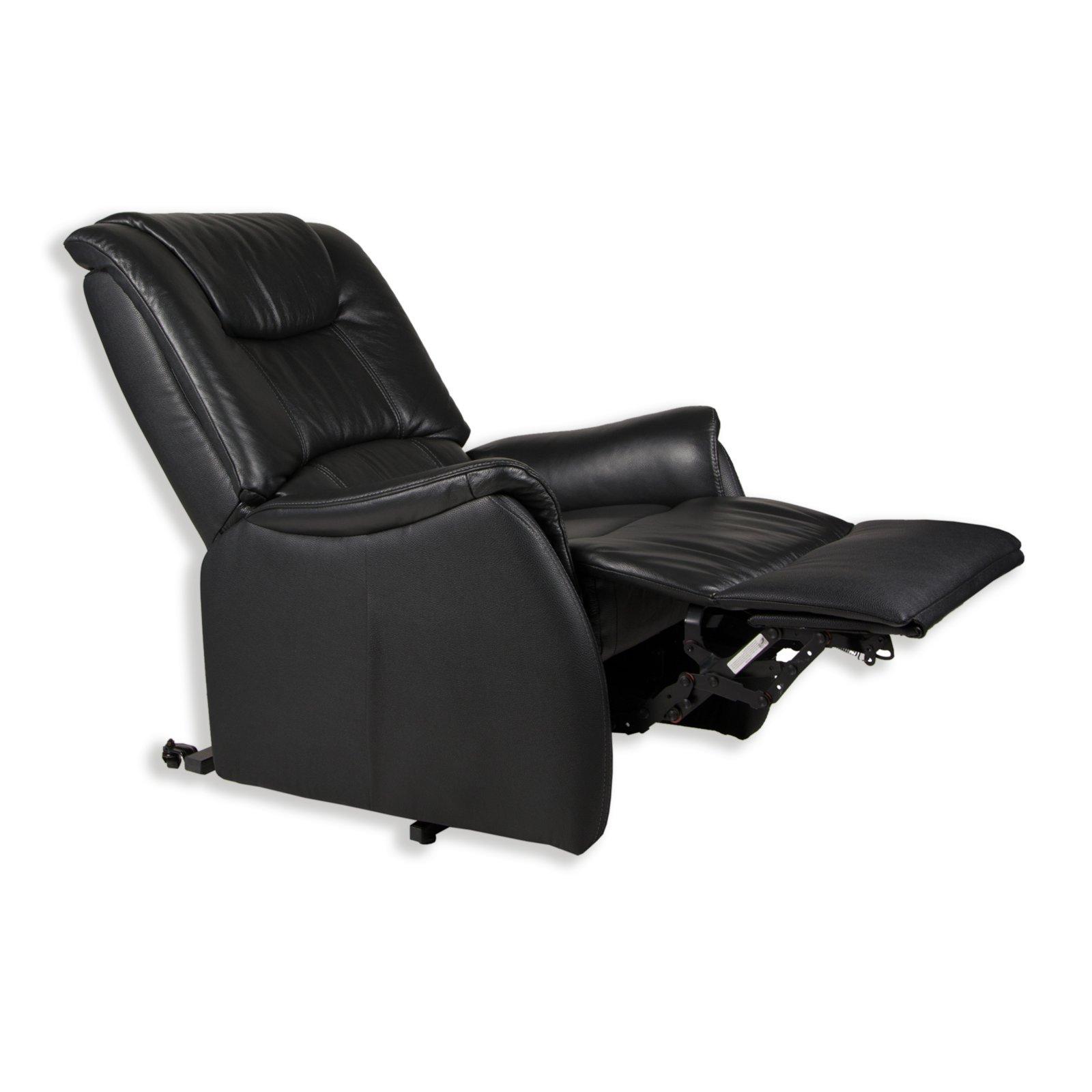 tv sessel xxl schwarz leder mit funktionen ebay. Black Bedroom Furniture Sets. Home Design Ideas