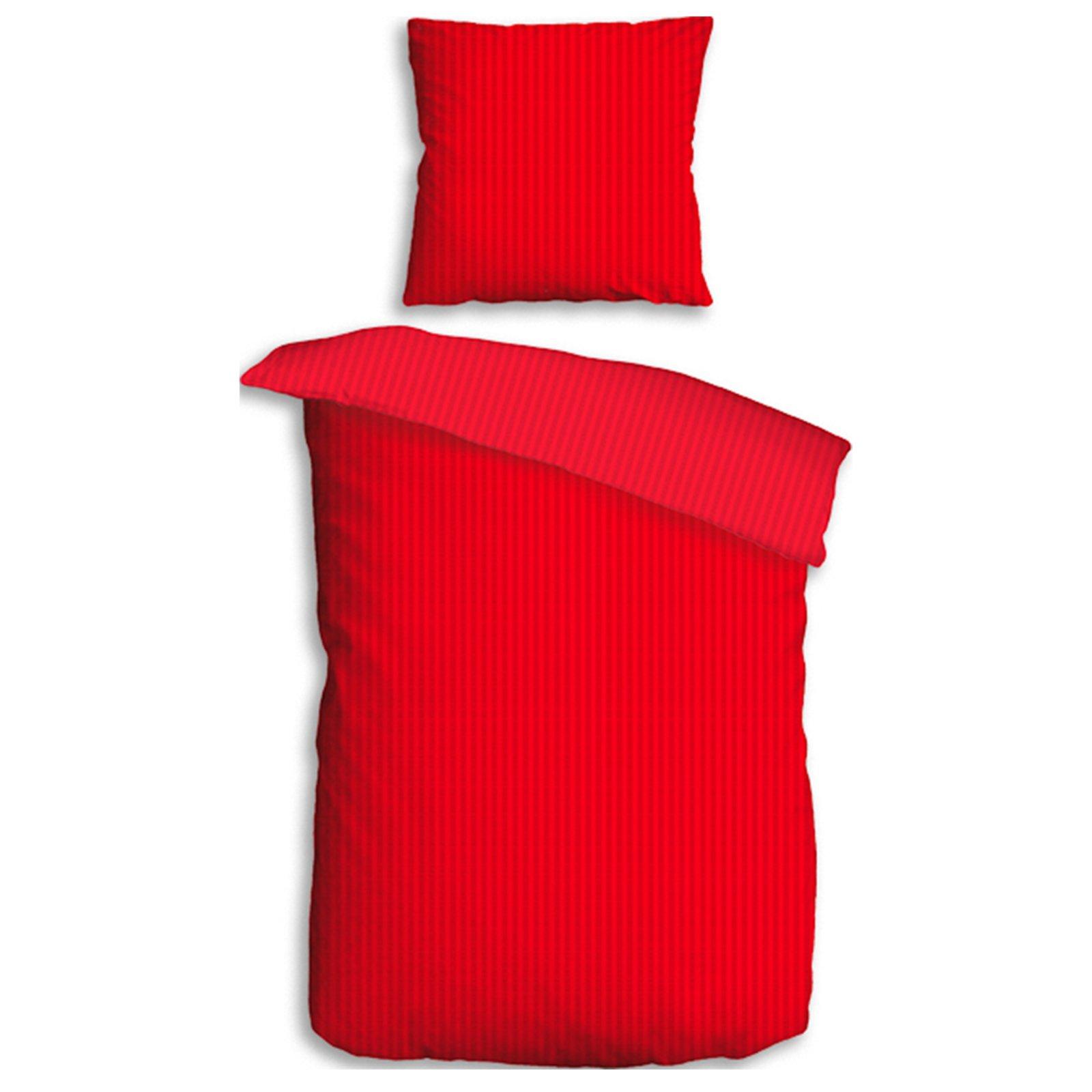 microfaser seersucker bettw sche uni red 135x200 cm bettw sche bettw sche bettlaken. Black Bedroom Furniture Sets. Home Design Ideas