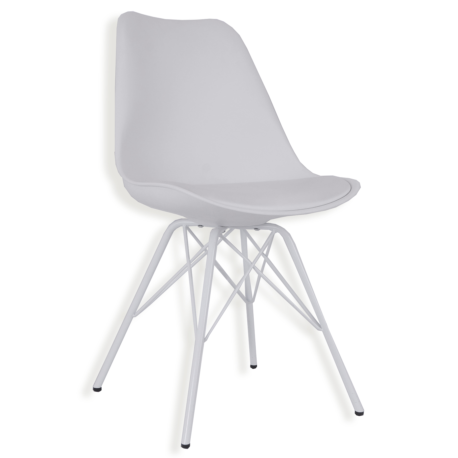 Stuhl Weiß Kunstleder