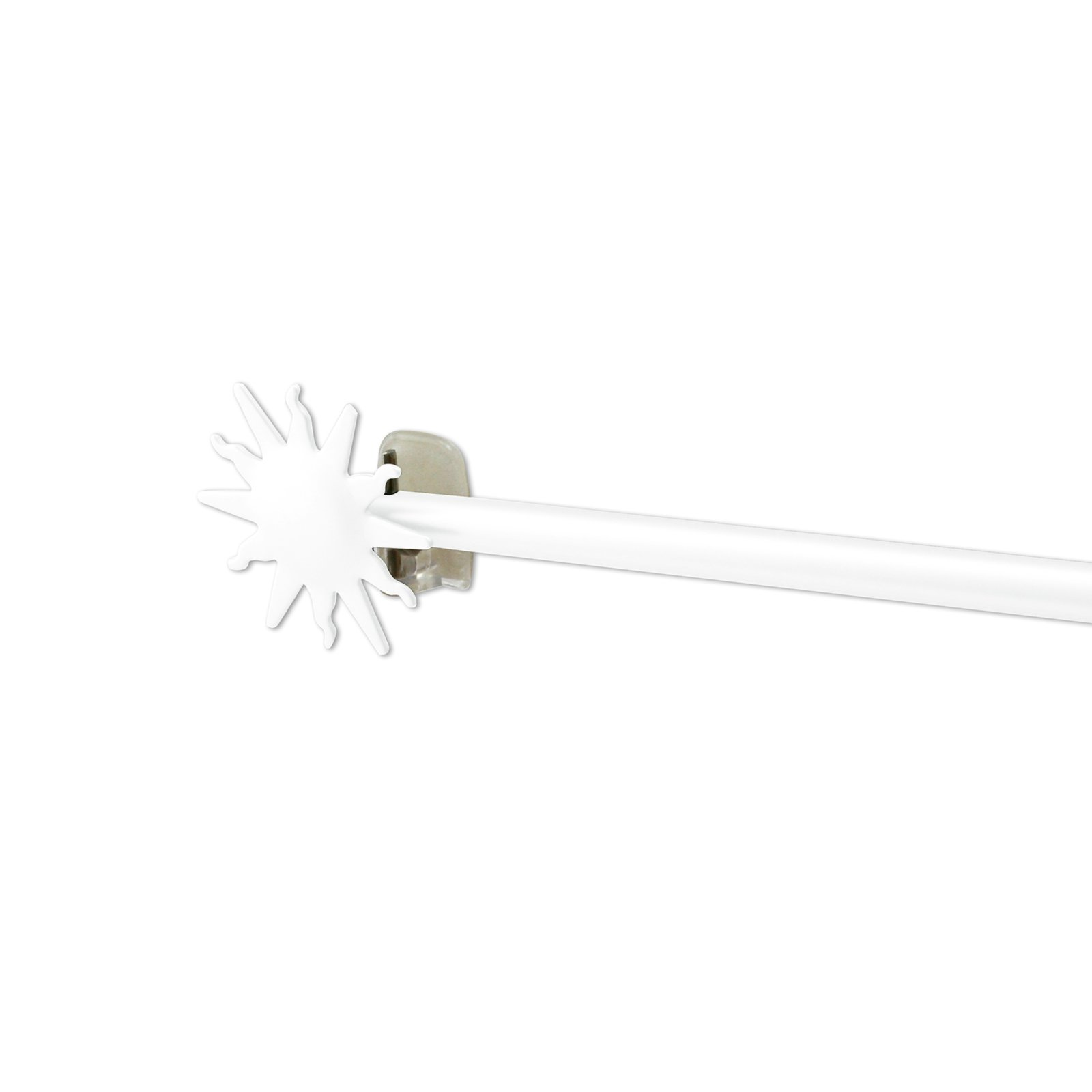 Scheibengardinenstange - weiß - Sonne - 85-150 cm