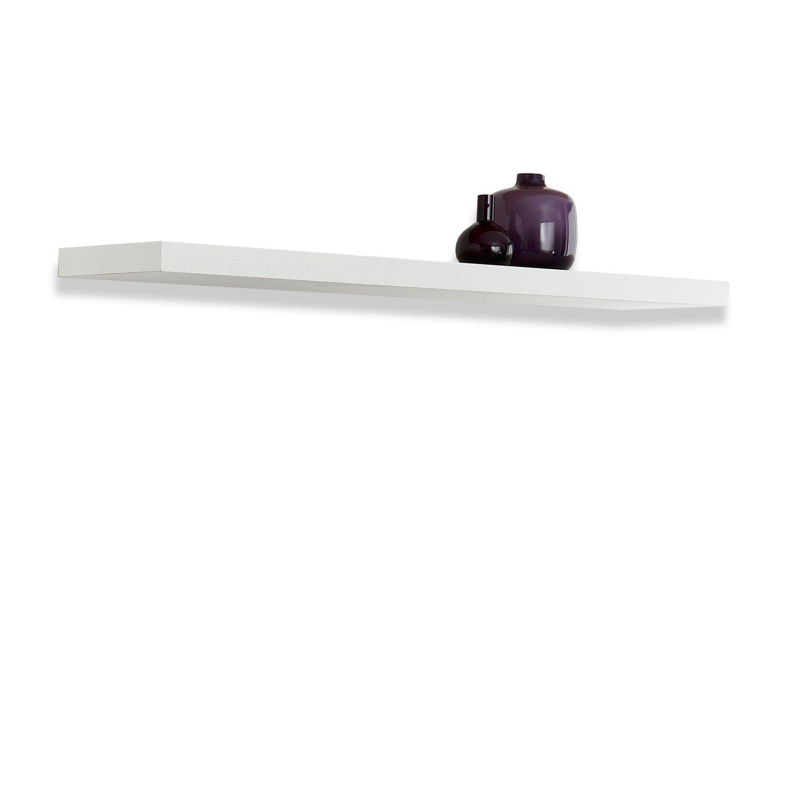 Wandregal BOARD I - weiß - 90 cm