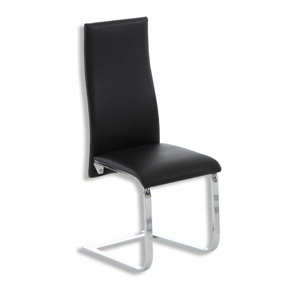 stuhl ellen schwarz kunstleder freischwinger st hle hocker m bel roller m belhaus. Black Bedroom Furniture Sets. Home Design Ideas