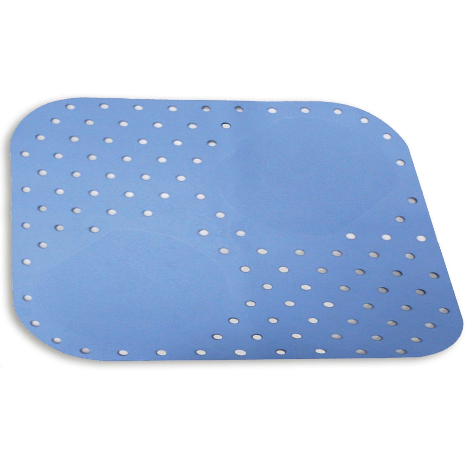 dusch antirutschmatte hellblau 54x54 cm anti rutsch bad accessoires badezimmer. Black Bedroom Furniture Sets. Home Design Ideas