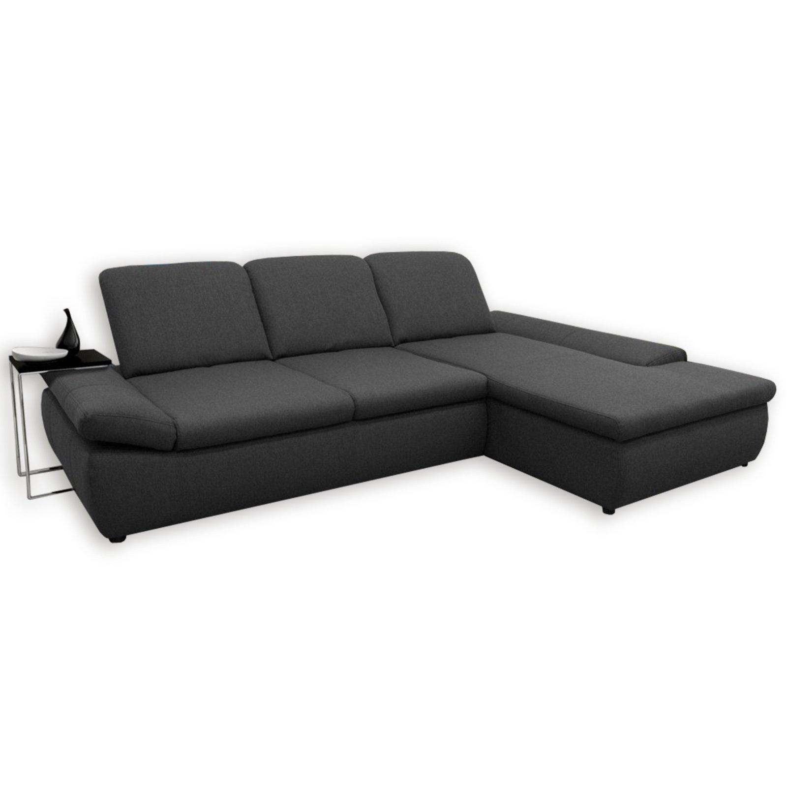 boxspringsofa anthrazit mit funktionen recamiere rechts ecksofas l form sofas. Black Bedroom Furniture Sets. Home Design Ideas