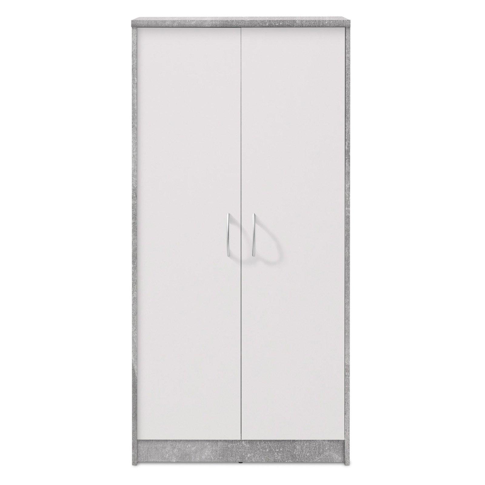 Schrank Beton Weiss 148 Cm Hoch