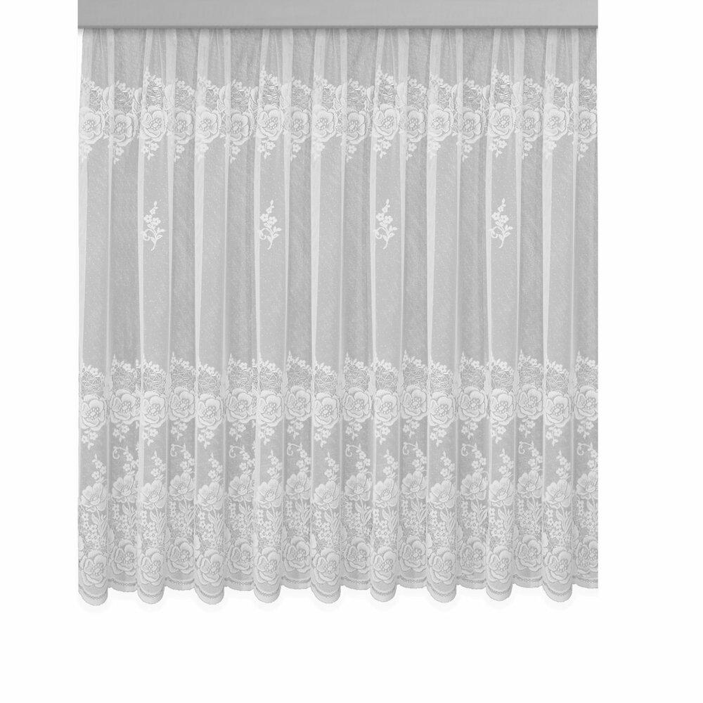 gardine verona jaquard store wei 300x145 cm transparente gardinen gardinen vorh nge. Black Bedroom Furniture Sets. Home Design Ideas