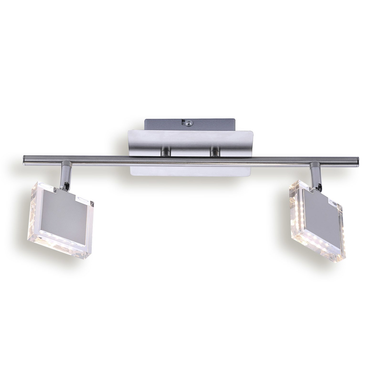 led deckenstrahler tony alufarben 2 flammig deckenstrahler deckenleuchten lampen. Black Bedroom Furniture Sets. Home Design Ideas