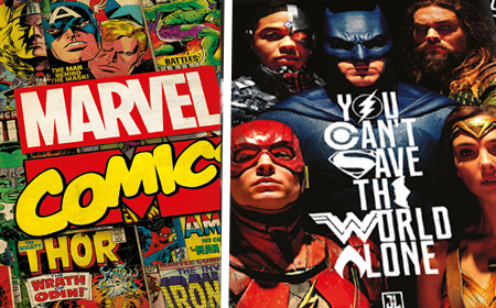 Marvel und DC Superhelden