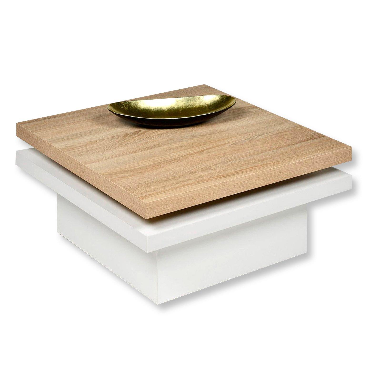 Couchtisch TANGO  drehbare Platte  quadratisch