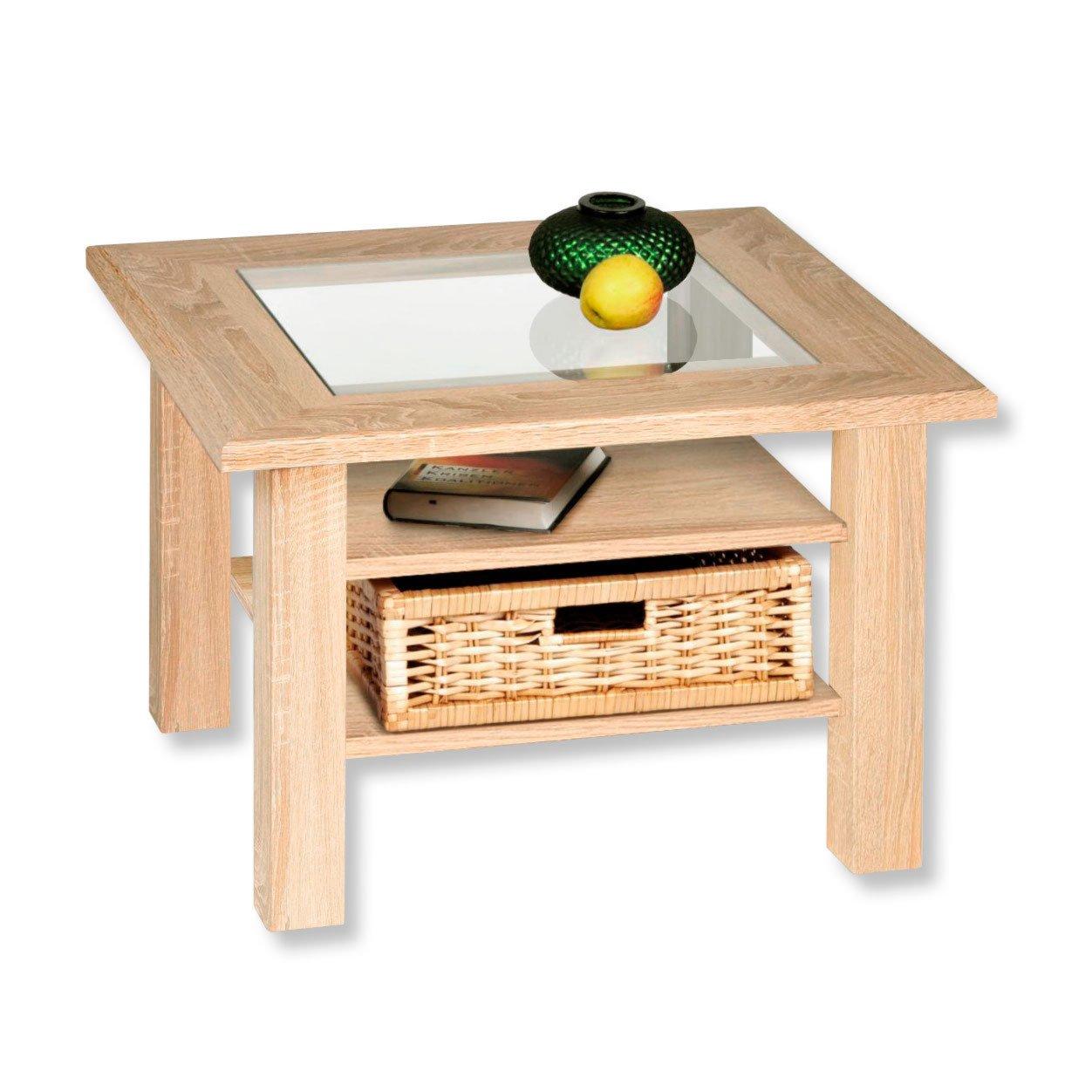 couchtisch steffi sonoma eiche mit glaseinlage couchtische wohnzimmer wohnbereiche. Black Bedroom Furniture Sets. Home Design Ideas