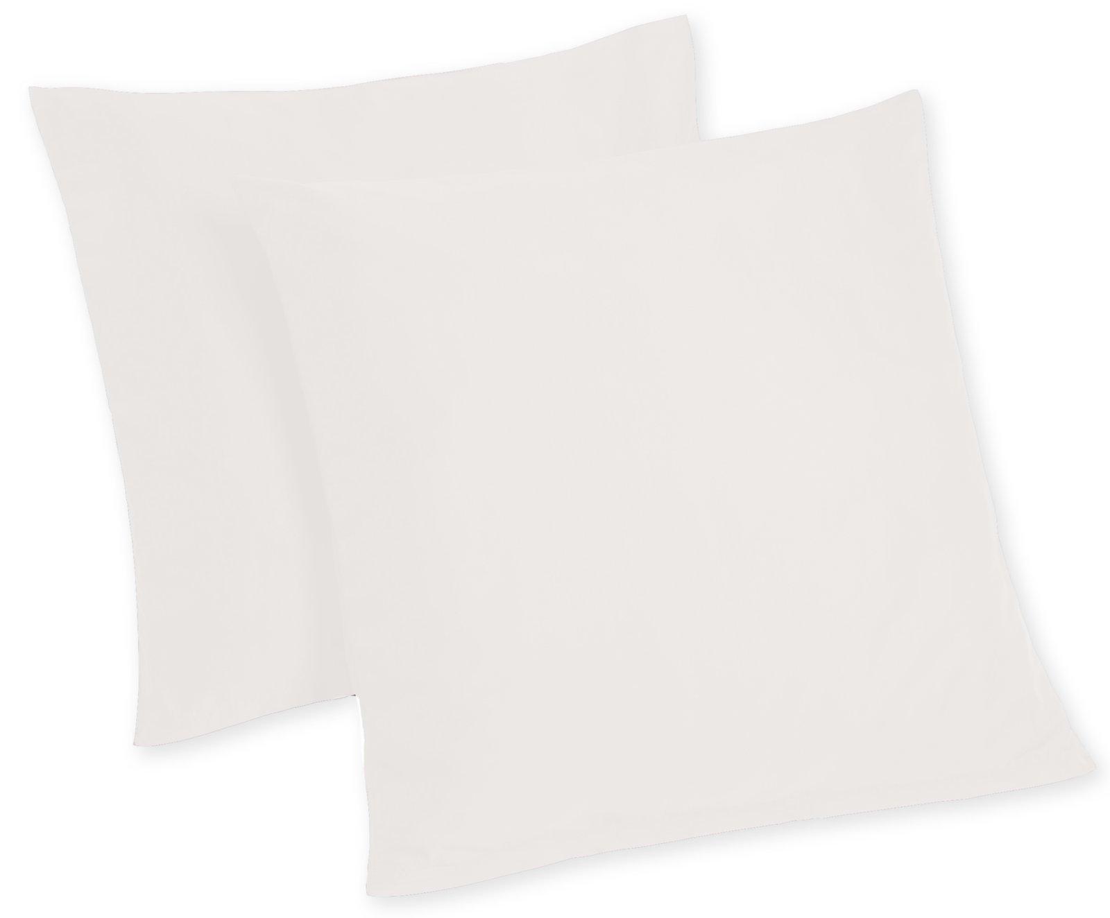 2er pack kissenbezug high class wei 80x80 cm bettw sche bettw sche bettlaken. Black Bedroom Furniture Sets. Home Design Ideas