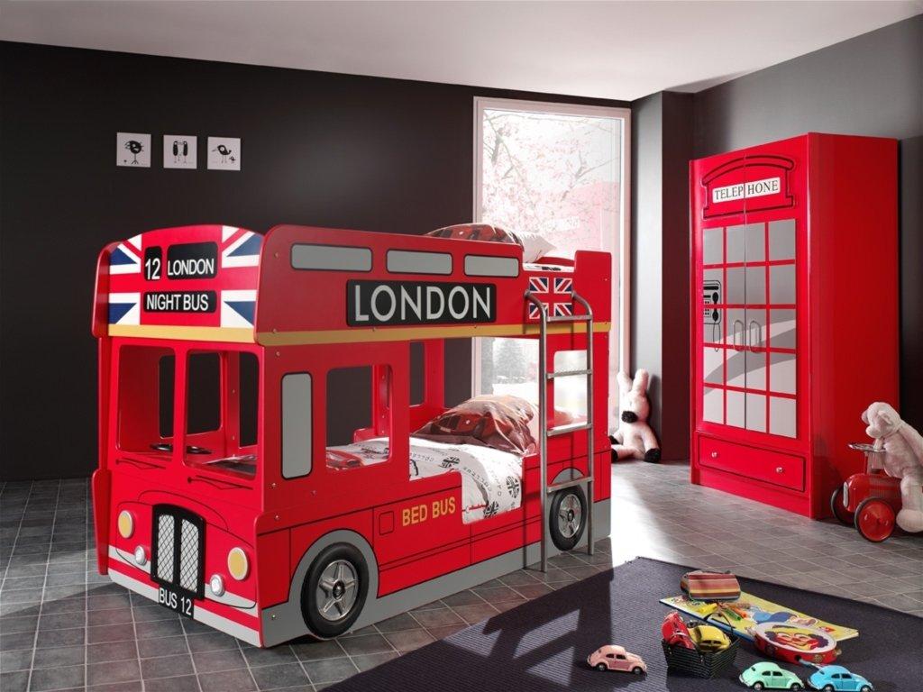 Etagenbett London Bus : Etagenbett london bus rot cm hochbetten