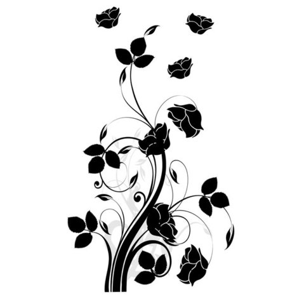 wandtattoo rosenranke selbstklebend wandtattoos tapeten bord ren baumarkt roller. Black Bedroom Furniture Sets. Home Design Ideas