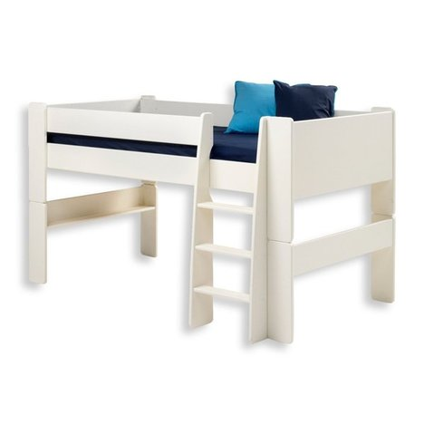 halbhochbett kids wei 90x200 cm hochbetten kinderbetten betten m bel roller m belhaus. Black Bedroom Furniture Sets. Home Design Ideas