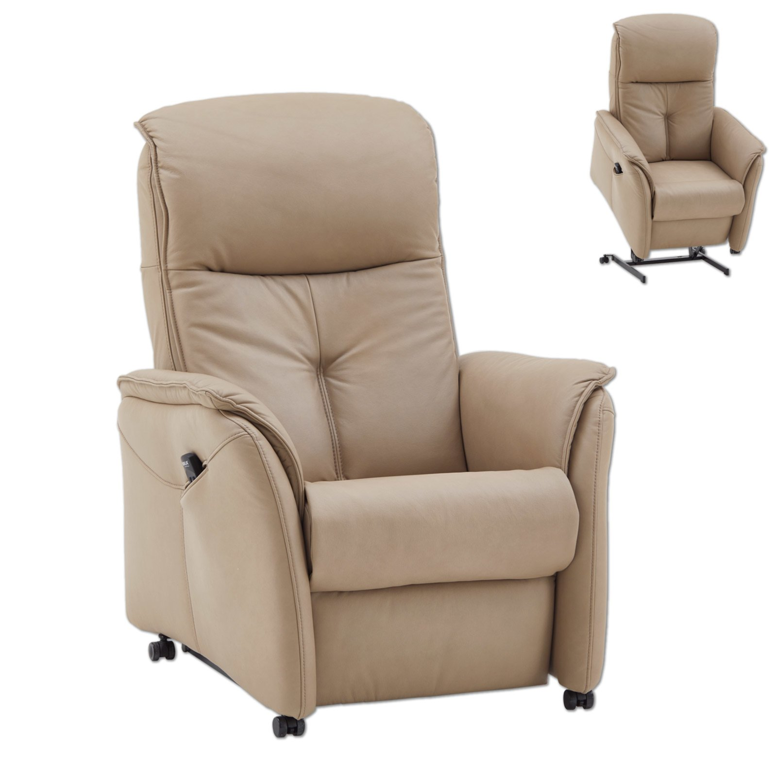 tv sessel beige small mit aufstehhilfe ledersessel sessel hocker m bel roller. Black Bedroom Furniture Sets. Home Design Ideas