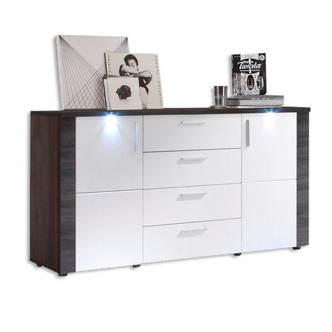 sideboard xpress wei esche grau mit beleuchtung kommoden sideboards m bel roller. Black Bedroom Furniture Sets. Home Design Ideas