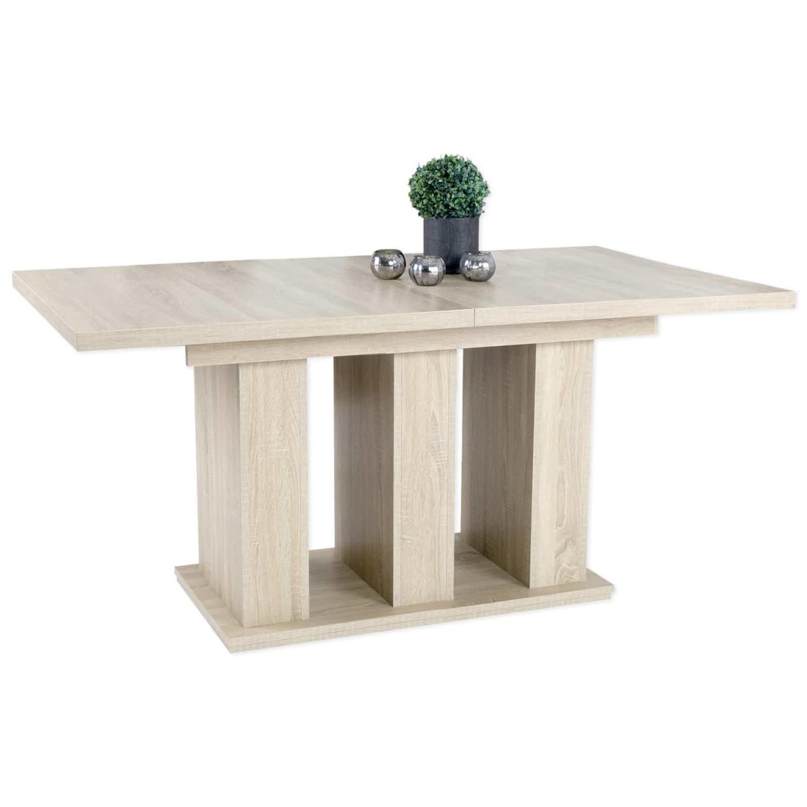 tisch robert sonoma eiche ausziehbar esstische sitzen essen esszimmer wohnbereiche. Black Bedroom Furniture Sets. Home Design Ideas