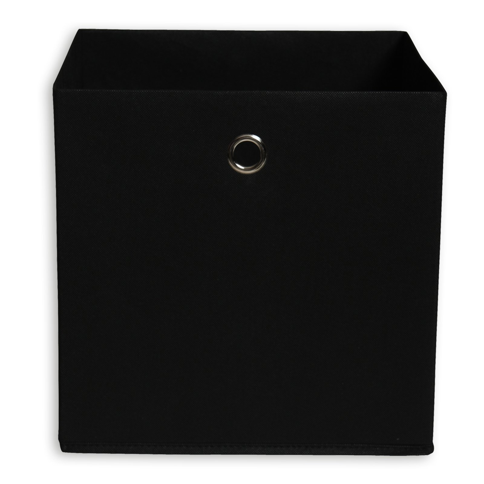 Faltbox - schwarz - mit Metallöse - 32x32 cm