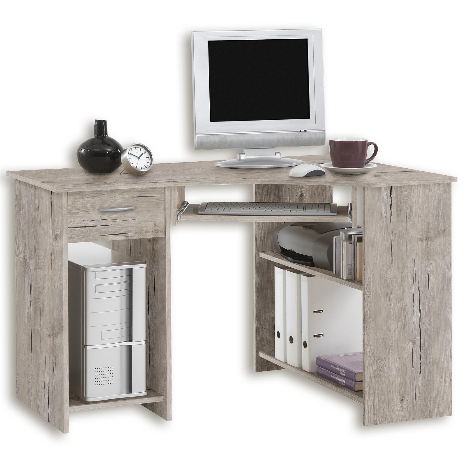 Eck Schreibtisch Sandeiche 118 Cm Online Bei Roller Kaufen