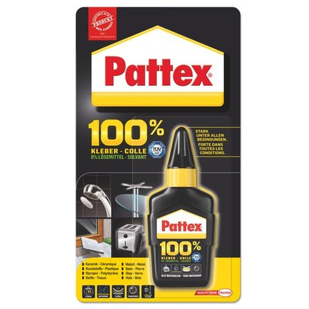 pattex 100 kleber alleskleber 50 g kleber leim malerbedarf baumarkt roller m belhaus. Black Bedroom Furniture Sets. Home Design Ideas