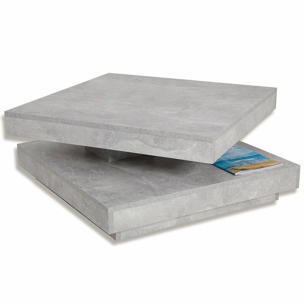 couchtisch beton tischplatte drehbar online bei. Black Bedroom Furniture Sets. Home Design Ideas